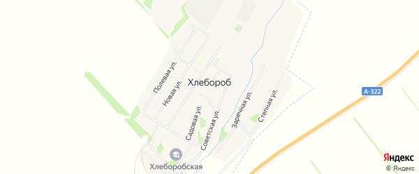 Карта поселка Хлебороба в Алтайском крае с улицами и номерами домов