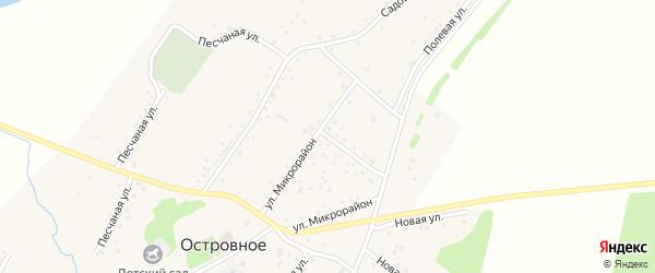 Улица Микрорайон на карте Островного села с номерами домов