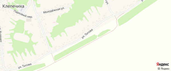 Улица Титова на карте села Клепечихи с номерами домов