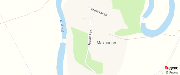 Травная улица на карте поселка Маханово с номерами домов