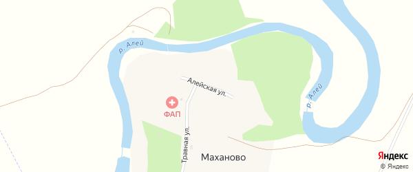 Алейская улица на карте поселка Маханово с номерами домов