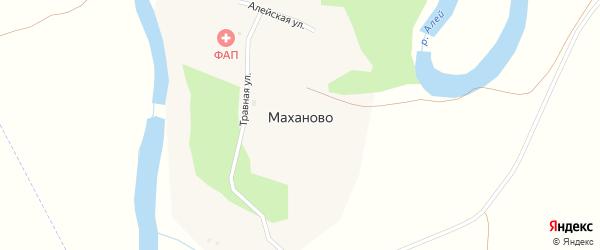Центральная улица на карте поселка Маханово с номерами домов