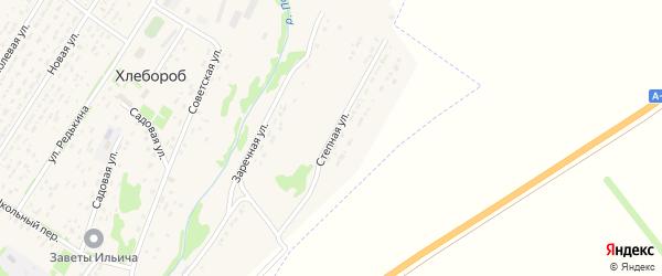 Степная улица на карте поселка Хлебороба с номерами домов