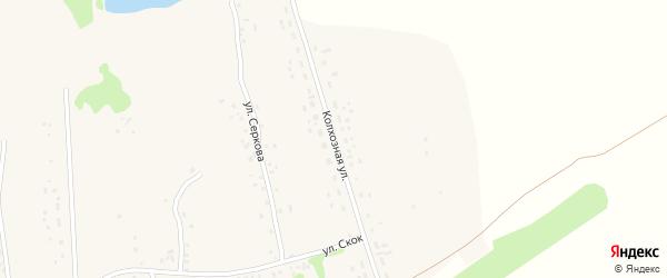 Колхозная улица на карте села Клепечихи с номерами домов