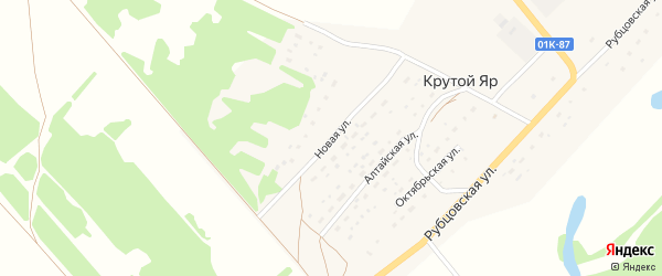 Новая улица на карте поселка Крутого Яра с номерами домов