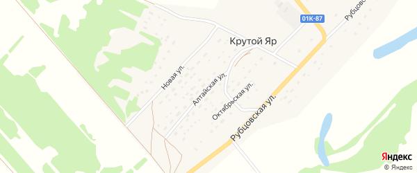 Алтайская улица на карте поселка Крутого Яра с номерами домов