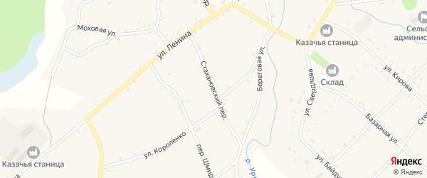 Стахановский переулок на карте села Шарчино с номерами домов