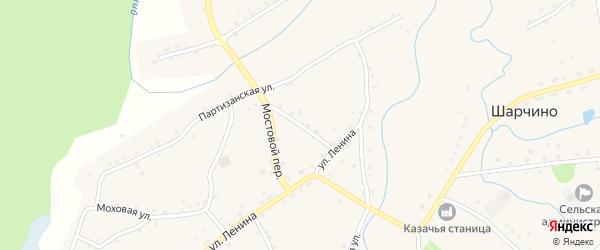 Прудской переулок на карте села Шарчино с номерами домов