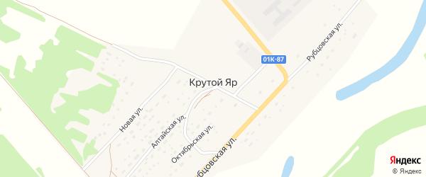 Новый переулок на карте поселка Крутого Яра с номерами домов
