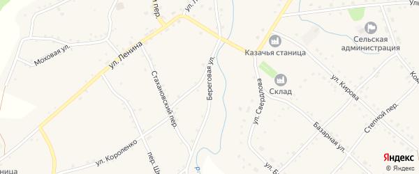 Береговая улица на карте села Шарчино с номерами домов