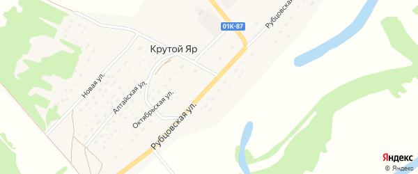 Рубцовская улица на карте поселка Крутого Яра с номерами домов