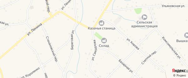 Улица Свердлова на карте села Шарчино с номерами домов