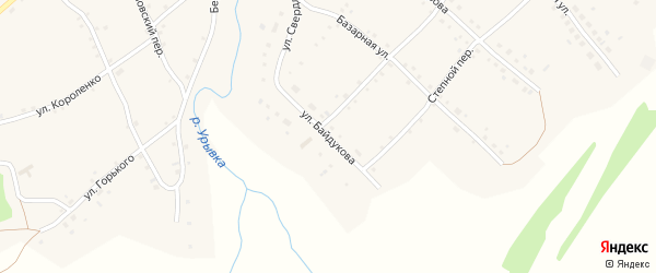 Улица Байдукова на карте села Шарчино с номерами домов