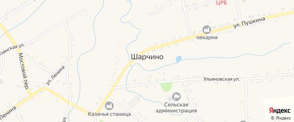 Улица Горького на карте села Шарчино с номерами домов