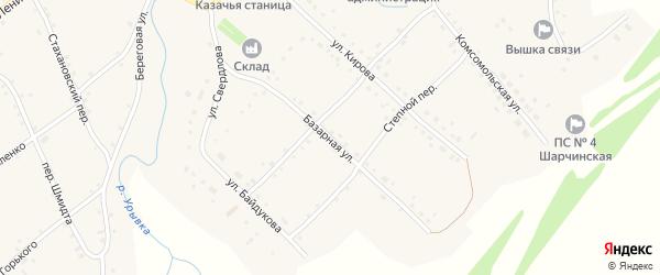 Базарная улица на карте села Шарчино с номерами домов