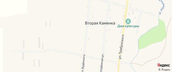 Улица Буденного на карте села Второй Каменки с номерами домов