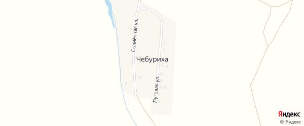Солнечная улица на карте поселка Чебурихи с номерами домов