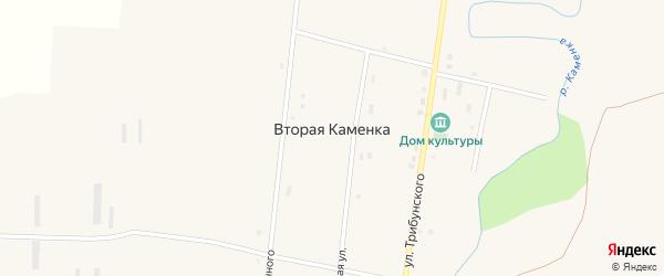 Междуреченская улица на карте села Второй Каменки с номерами домов