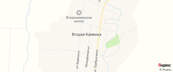 Карта села Второй Каменки в Алтайском крае с улицами и номерами домов