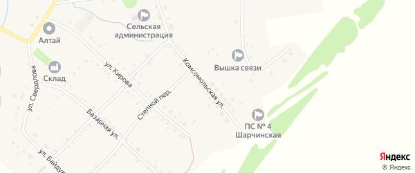 Комсомольская улица на карте села Шарчино с номерами домов