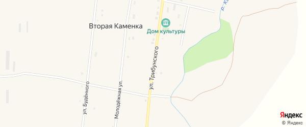 Улица Трибунского на карте села Второй Каменки с номерами домов