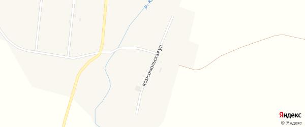 Комсомольская улица на карте села Второй Каменки с номерами домов