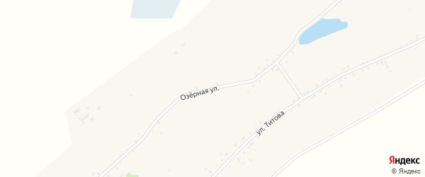 Озерная улица на карте Островного села с номерами домов