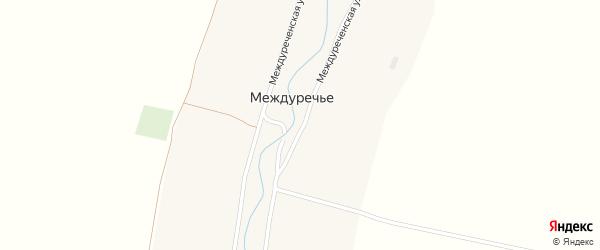 Междуреченская улица на карте поселка Междуречья с номерами домов