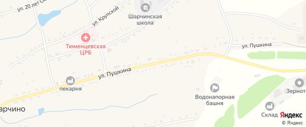 Улица Пушкина на карте села Шарчино с номерами домов