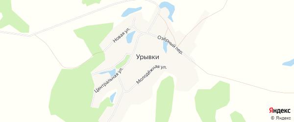 Карта села Урывки в Алтайском крае с улицами и номерами домов