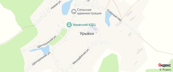 Центральная улица на карте села Урывки с номерами домов