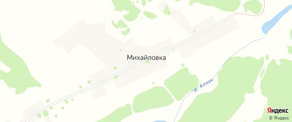 Михайловская улица на карте поселка Михайловки с номерами домов