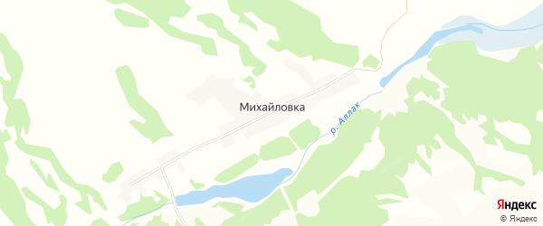 Карта поселка Михайловки в Алтайском крае с улицами и номерами домов