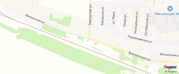 Вокзальная улица на карте Масальского поселка с номерами домов