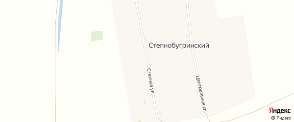 Степная улица на карте Степнобугринского поселка с номерами домов