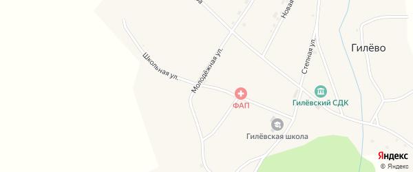 Школьная улица на карте села Гилево с номерами домов