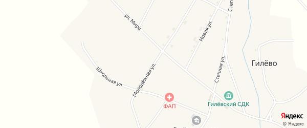Молодежная улица на карте села Гилево с номерами домов