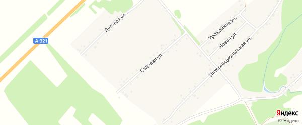 Садовая улица на карте Буканского села с номерами домов