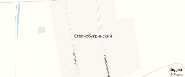 Улица Гагарина на карте Степнобугринского поселка с номерами домов