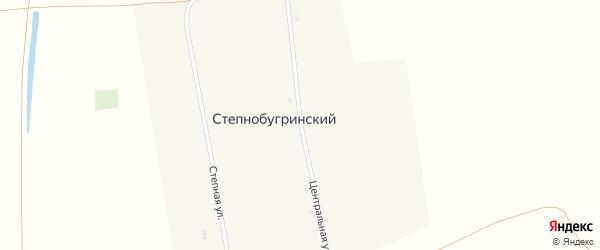 Центральная улица на карте Степнобугринского поселка с номерами домов