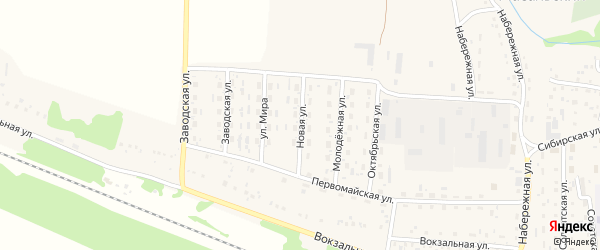 Новая улица на карте Масальского поселка с номерами домов