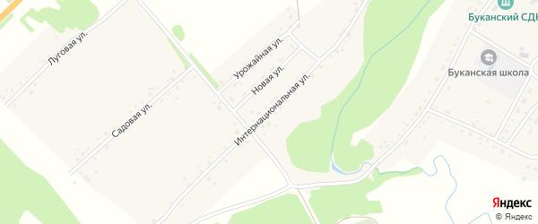 Интернациональная улица на карте Буканского села с номерами домов