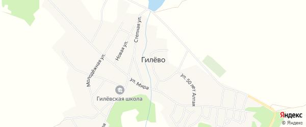 Карта села Гилево в Алтайском крае с улицами и номерами домов