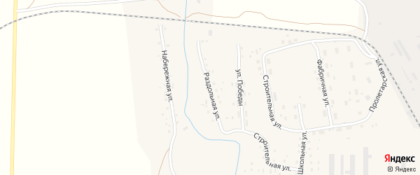Раздольная улица на карте Масальского поселка с номерами домов