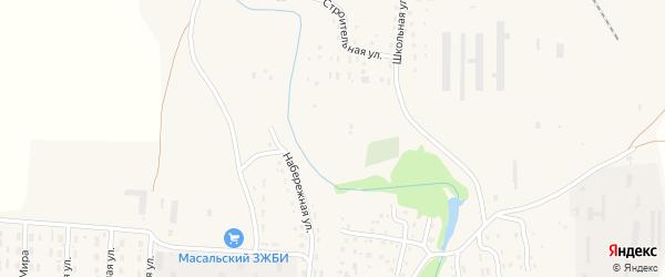 Улица Победы на карте Масальского поселка с номерами домов