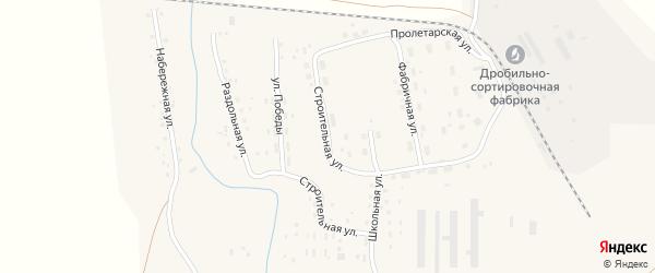 Строительная улица на карте Масальского поселка с номерами домов