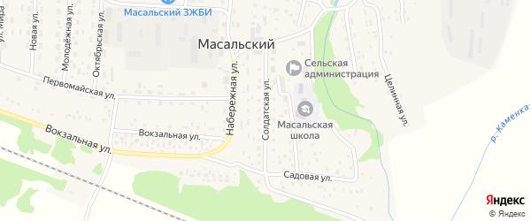 Солдатская улица на карте Масальского поселка с номерами домов