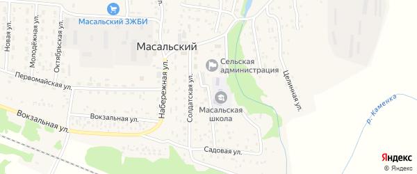 Советская улица на карте Масальского поселка с номерами домов