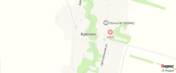 Центральная улица на карте поселка Крючки с номерами домов