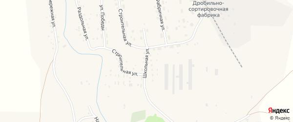 Школьная улица на карте Масальского поселка с номерами домов